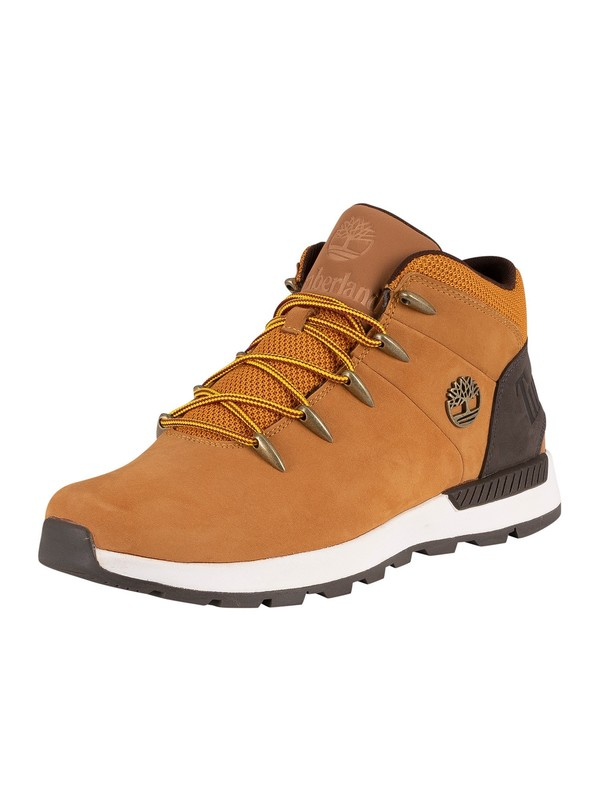 Timberland Euro Sprint Trekker Mid Leather Boots - Wheat Nubuck Brown