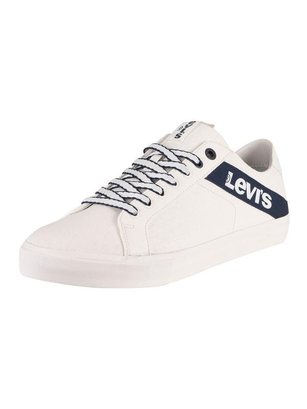 Levi's Woodward Canvas Trainers - Regular White