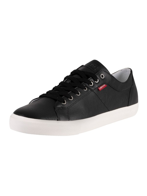 Levi's Woodward Leather Trainers - Regular Black