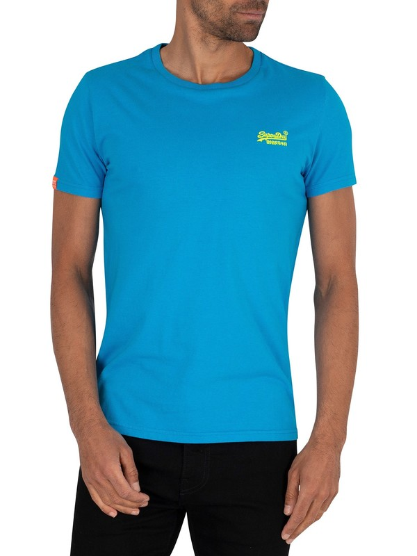 Superdry Neon Lite T-Shirt - Electric Blue