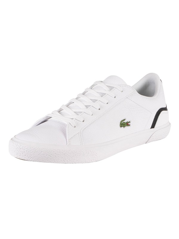 Lacoste Lerond 220 1 CMA Leather Trainers - White/Black