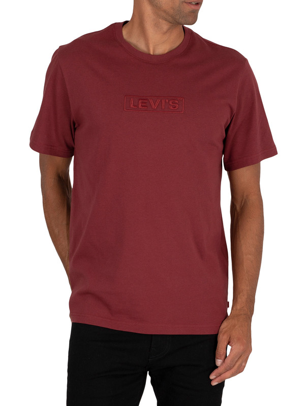 Levi's Relaxed Fit T-Shirt - Burgundy