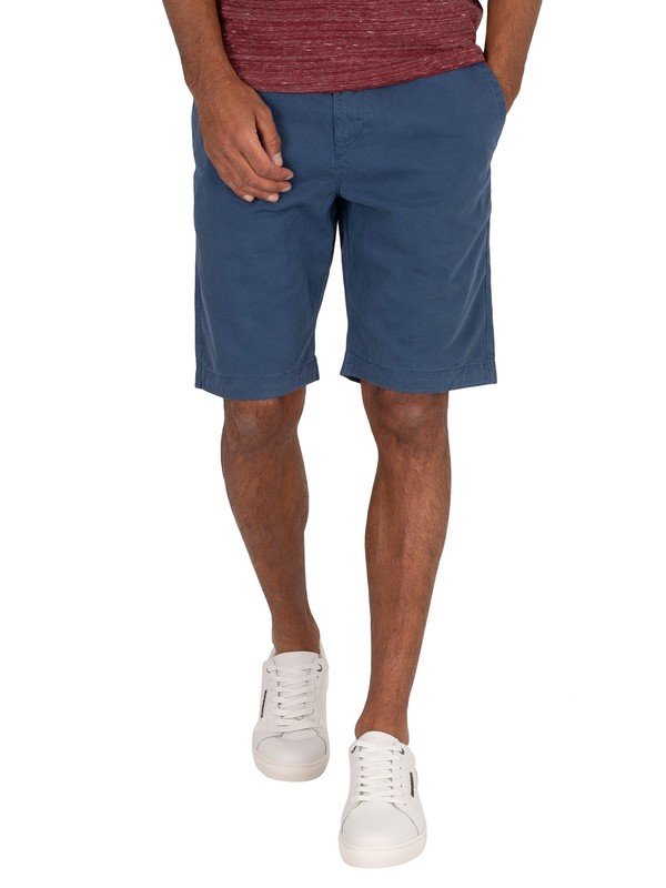 Superdry International Chino Shorts - Ensign Blue