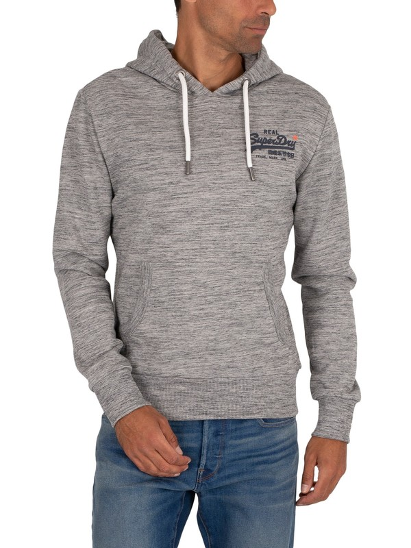 Superdry Pasteline Pullover Hoodie - Carbon Grey Space Dye