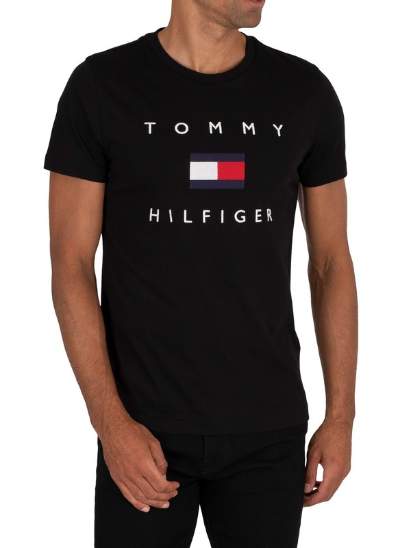 Tommy Hilfiger Flag T-Shirt - Black
