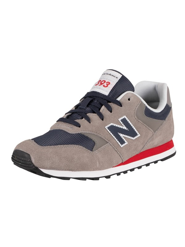 New Balance 393 Suede Trainers - Marblehead/Navy