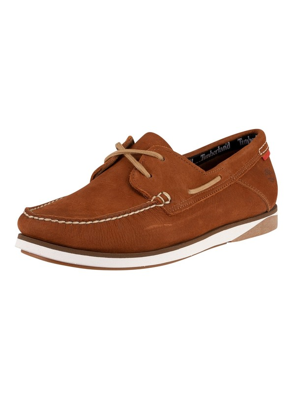 Timberland Atlantic Break Boat Shoes - Rust Nubuck