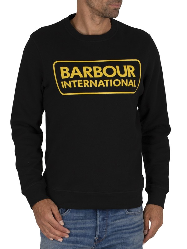 Barbour International Large Logo Sweatshirt - Black
