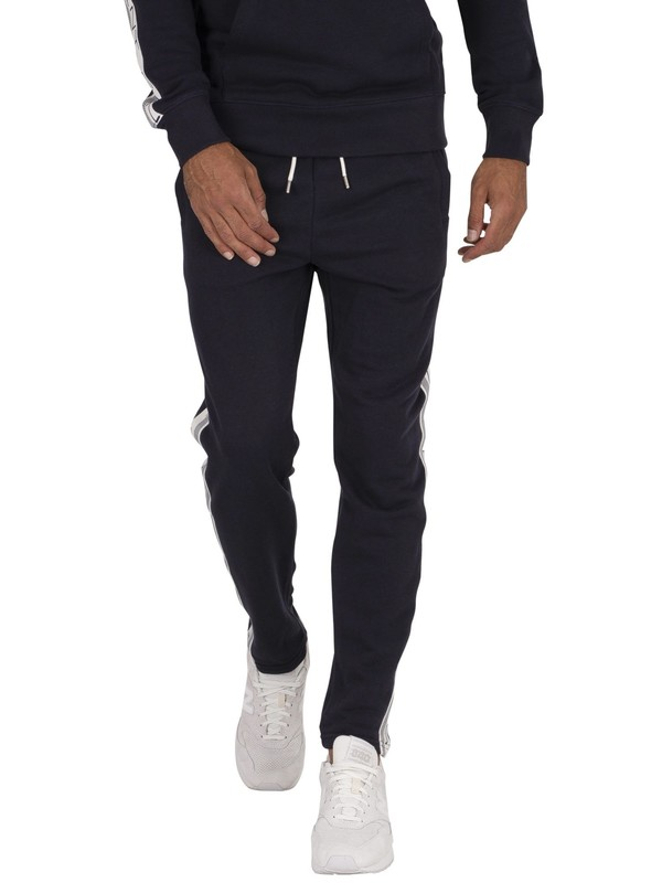 GANT Stripes Joggers - Evening Blue