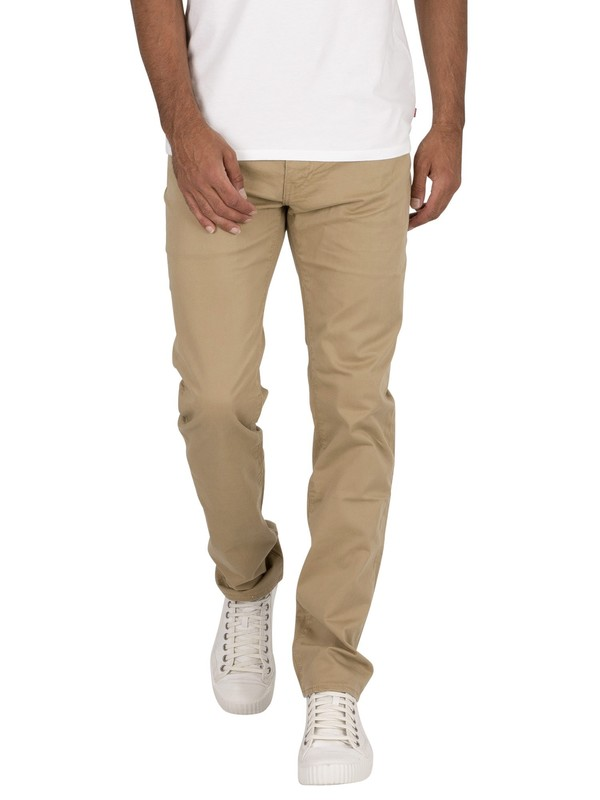 Levi's 511 Slim Chinos - Harvest Gold Suede Sateen