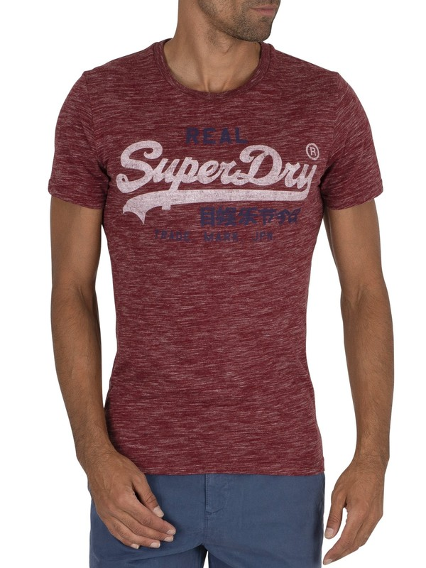 Superdry Premium Goods T-Shirt - Brick Red Space Dye