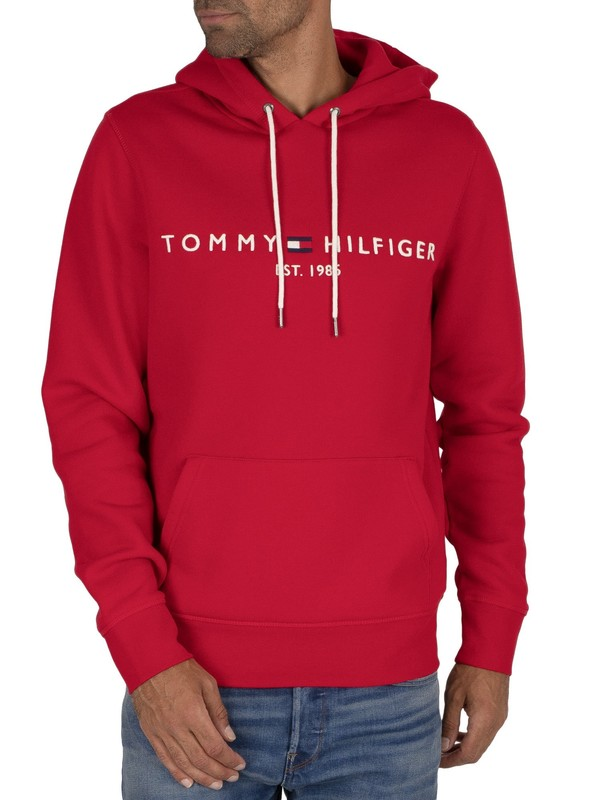 Tommy Hilfiger Graphic Pullover Hoodie - Primary Red