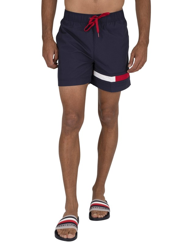 Tommy Hilfiger Medium Drawstring Swim Shorts - Navy Blazer