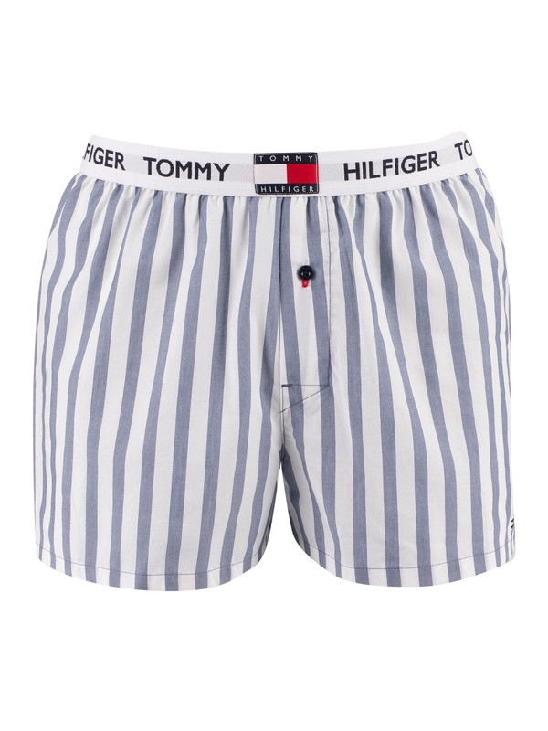 Tommy Hilfiger Stripe Woven Boxers - Coastal Fjord
