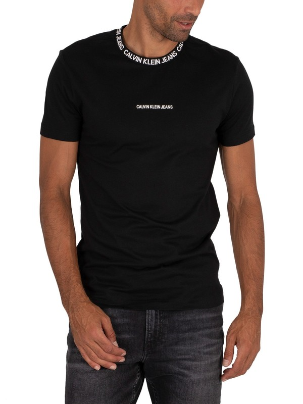 Calvin Klein Jeans Institutional Collar T-Shirt - Black