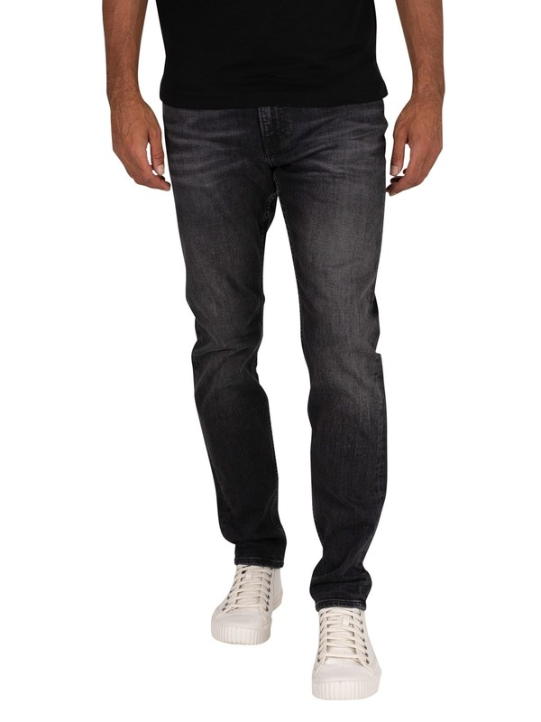 Calvin Klein Jeans Slim Taper Jeans - Washed Black