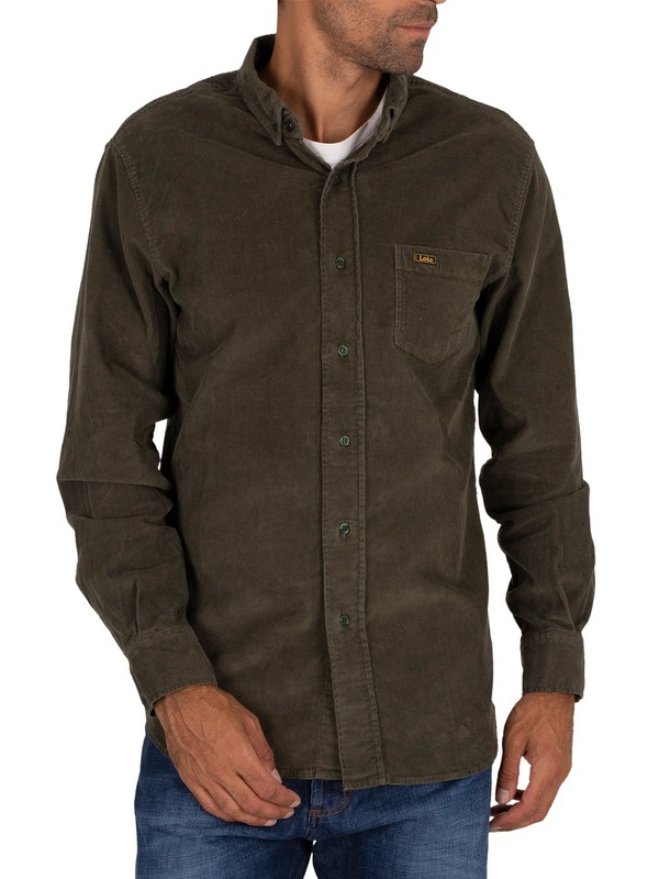 Lois Jeans Thomas Thincord Shirt - Green Olive