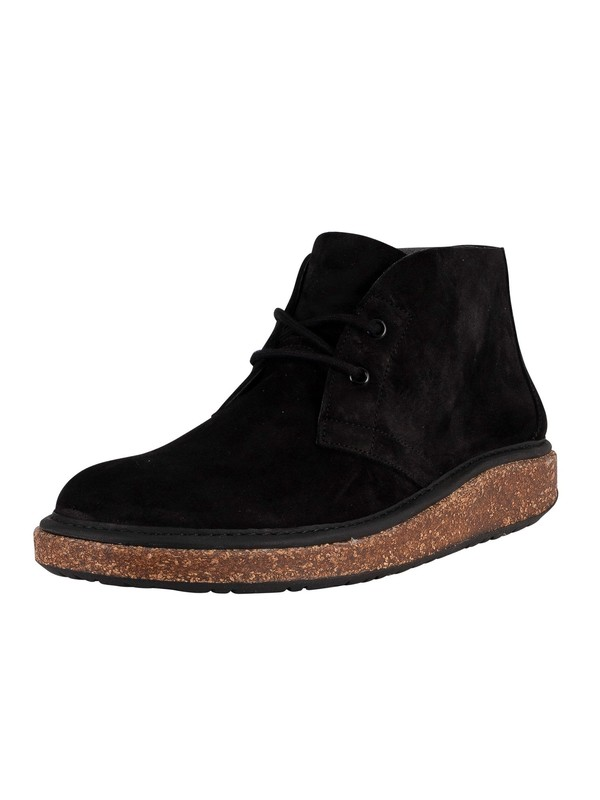Birkenstock Milton Suede Leather Desert Boot - Black