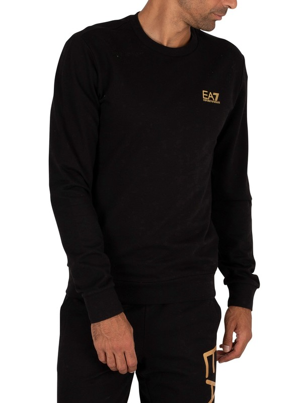 EA7 Chest Logo Sweatshirt - Black