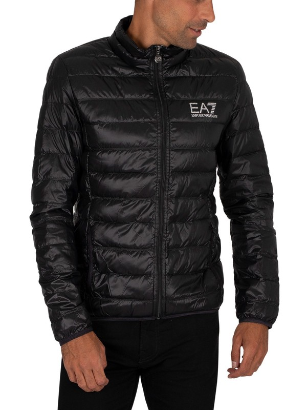 EA7 Logo Down Jacket - Black