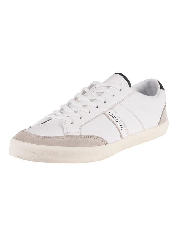 Lacoste Coupole 0120 1 CMA Leather Trainers - White/Light Grey