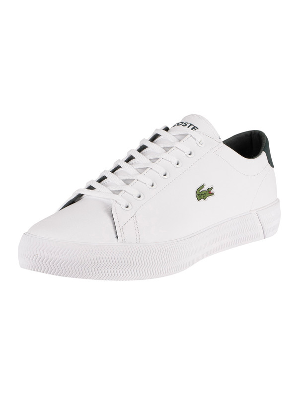 Lacoste Gripshot 0120 3 CMA Leather Trainers - White/Dark Grey