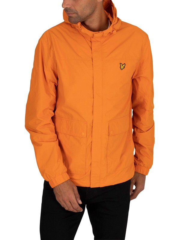 Lyle & Scott Hooded Pocket Jacket - Risk Orange
