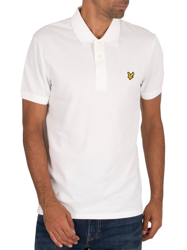 Lyle & Scott Logo Polo Shirt - White