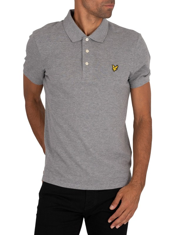 Lyle & Scott Logo Polo Shirt - Mid Grey Marl