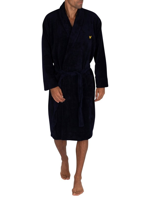Lyle & Scott Lucas Robe - Navy
