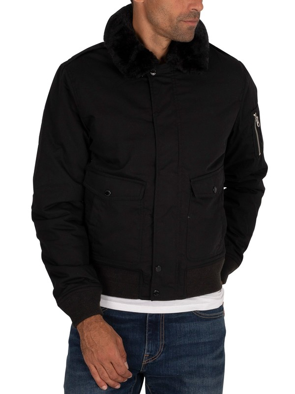 Schott Air Pilot Bomber Jacket - Black