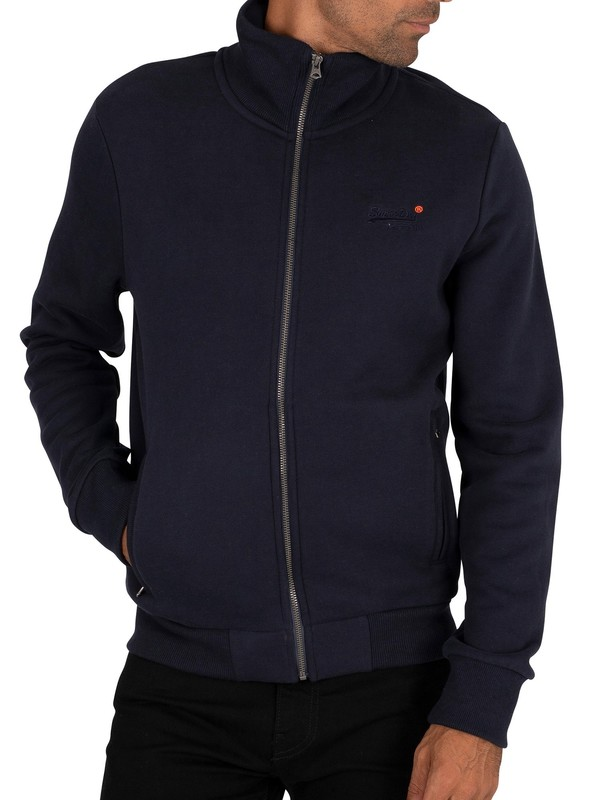Superdry Classic Zip Track Top - Rich Navy