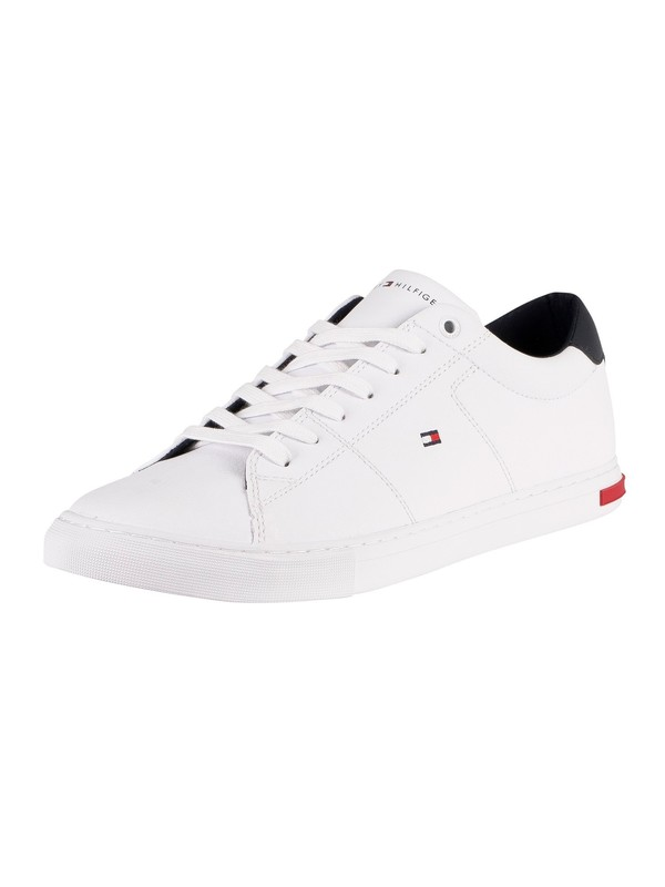 Tommy Hilfiger Essential Leather Trainers - White