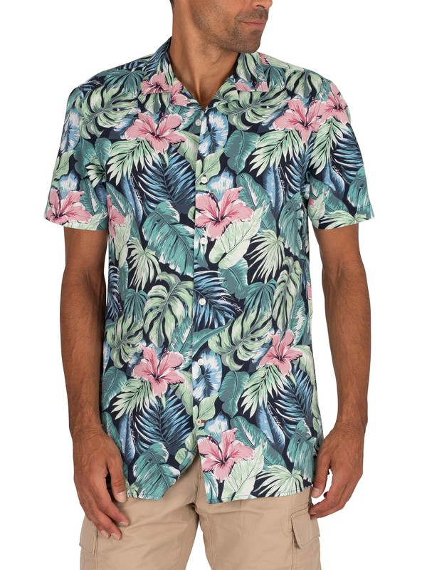Tommy Hilfiger Hawaiian Print Shortsleeved Shirt - Green Bay/Multi
