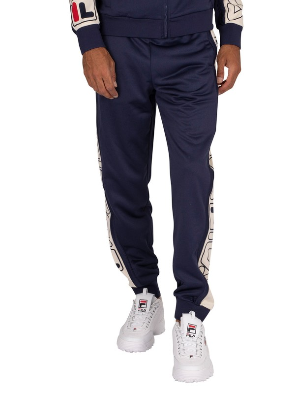 Fila Greene Stripe Track Joggers - Peacoat/Turtle Dove/Red