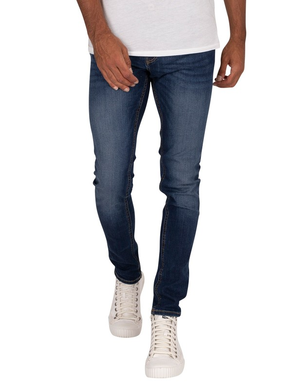 Jack & Jones Liam Original 014 Skinny Jeans - Blue Denim