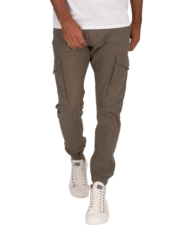 Jack & Jones Paul Flake Linen 982 Cargos - Olive Night