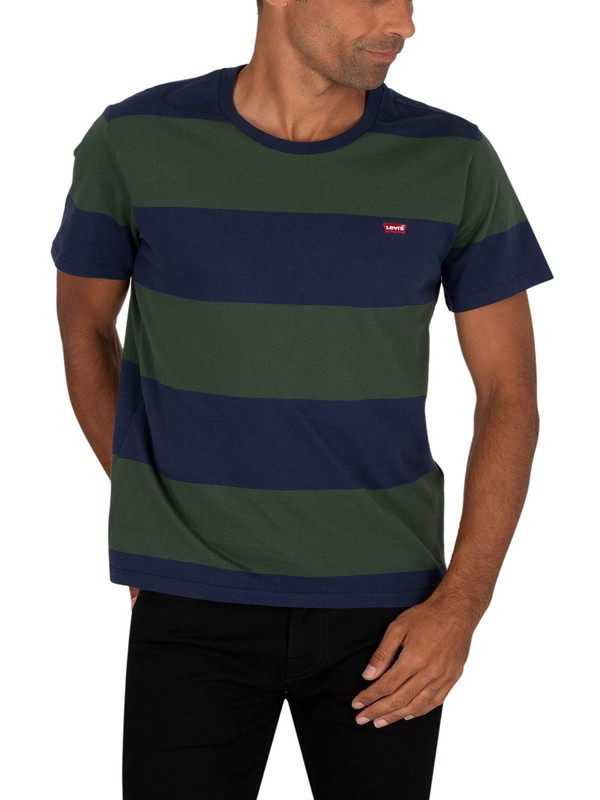 Levi's Original T-Shirt - Rugby Stripe Dress Blue