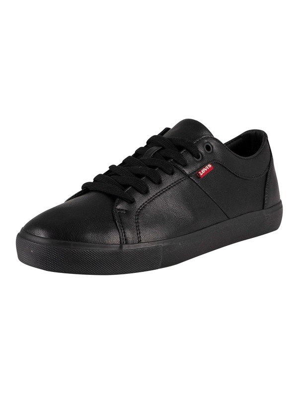 Levi's Woodward Leather Trainers - Brilliant Black