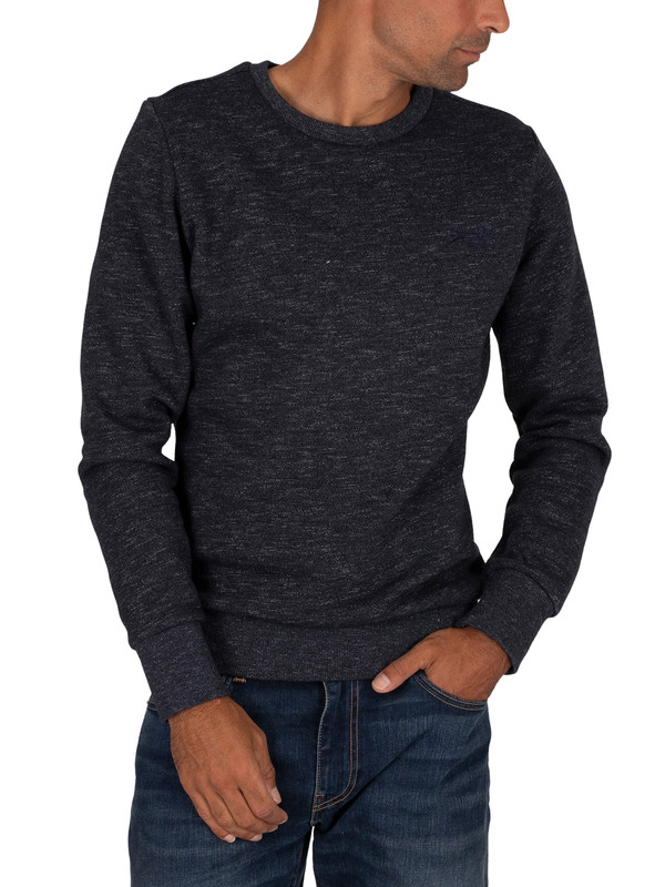 Superdry Classic Sweatshirt - Eclipse Navy Feeder