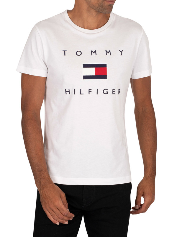 Tommy Hilfiger Flag Graphic T-Shirt - White