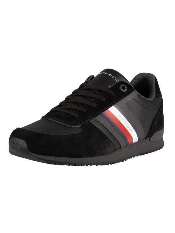 Tommy Hilfiger Iconic Mix Runner Trainers - Black