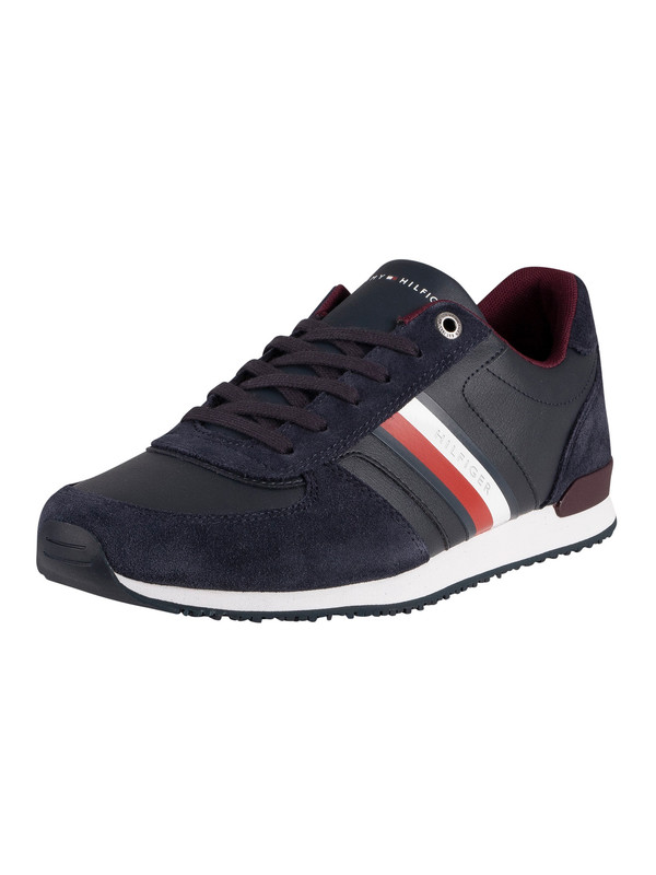 Tommy Hilfiger Iconic Mix Runner Trainers - Desert Sky