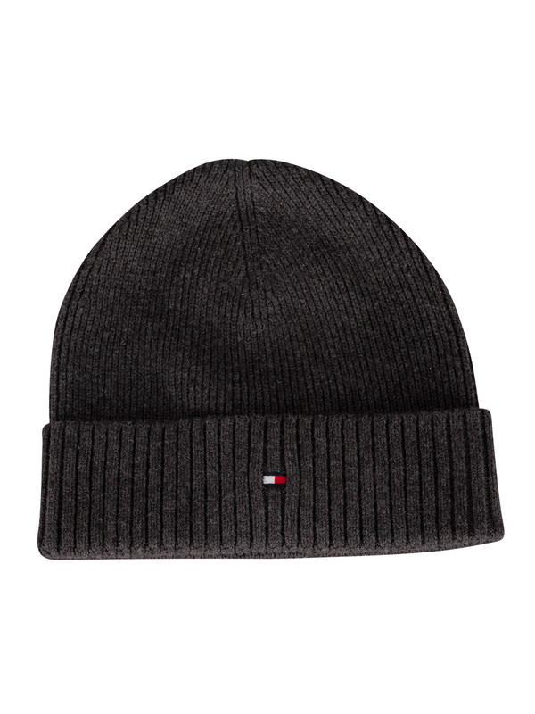 Tommy Hilfiger Pima Cotton Beanie - Charcoal Gray