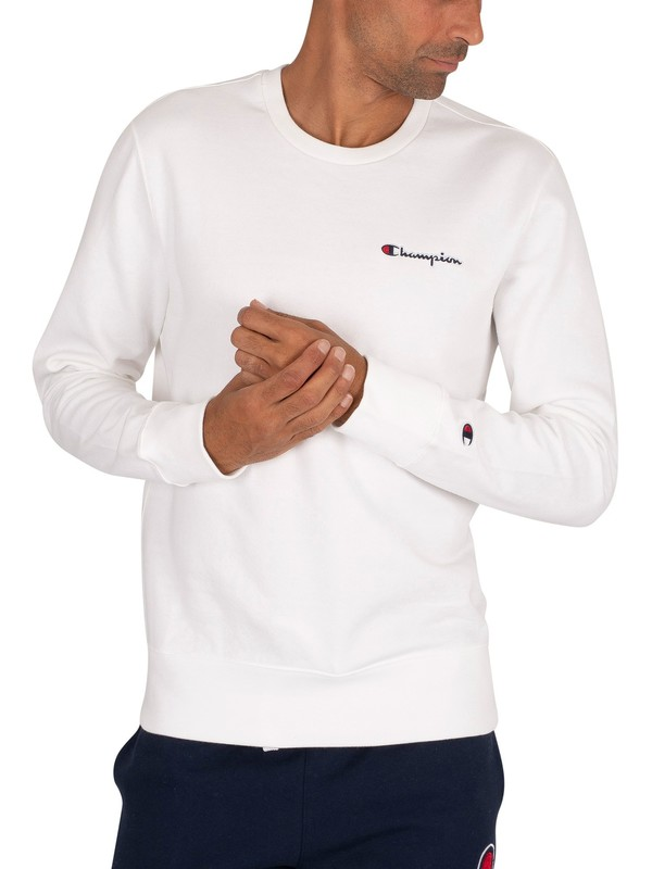 Champion Chest Logo Sweatshirt - White