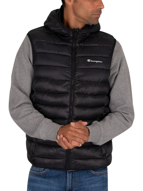 Champion Hooded Gilet - Black