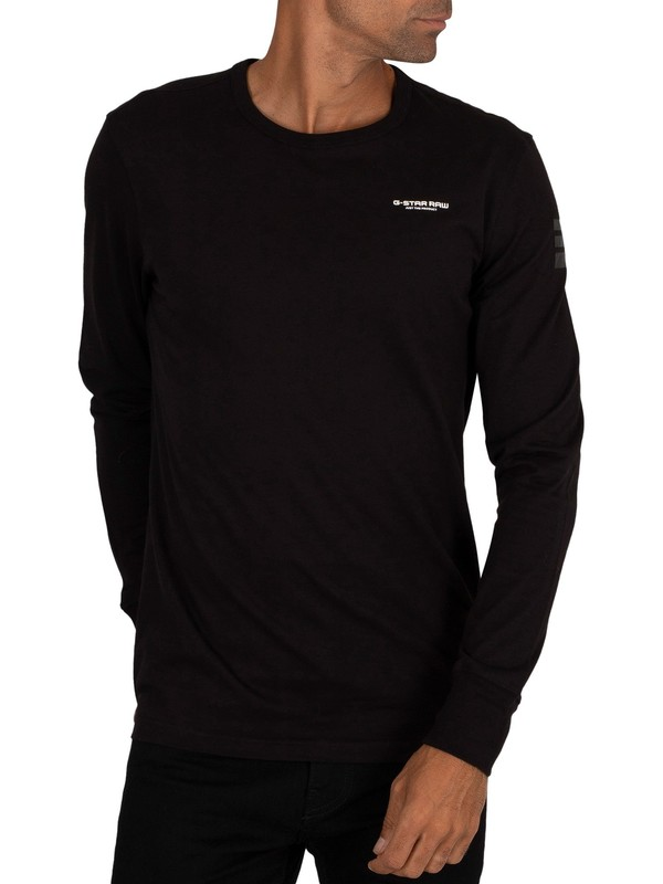 G-Star Base Longsleeved T-Shirt - Dark Black
