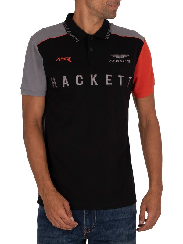 Hackett London AMR Polo Shirt - Black
