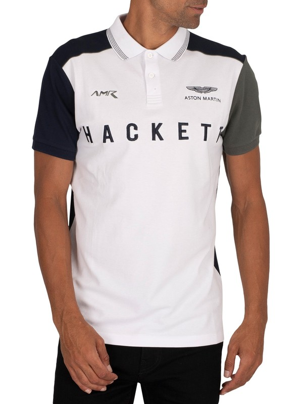 Hackett London AMR Polo Shirt - White