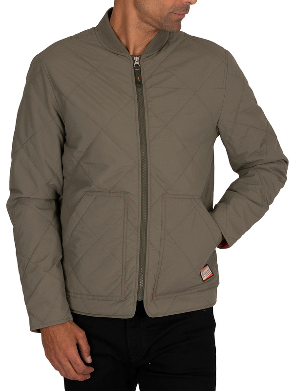Jack & Jones Worker Quilted Jacket - Dusty Olive